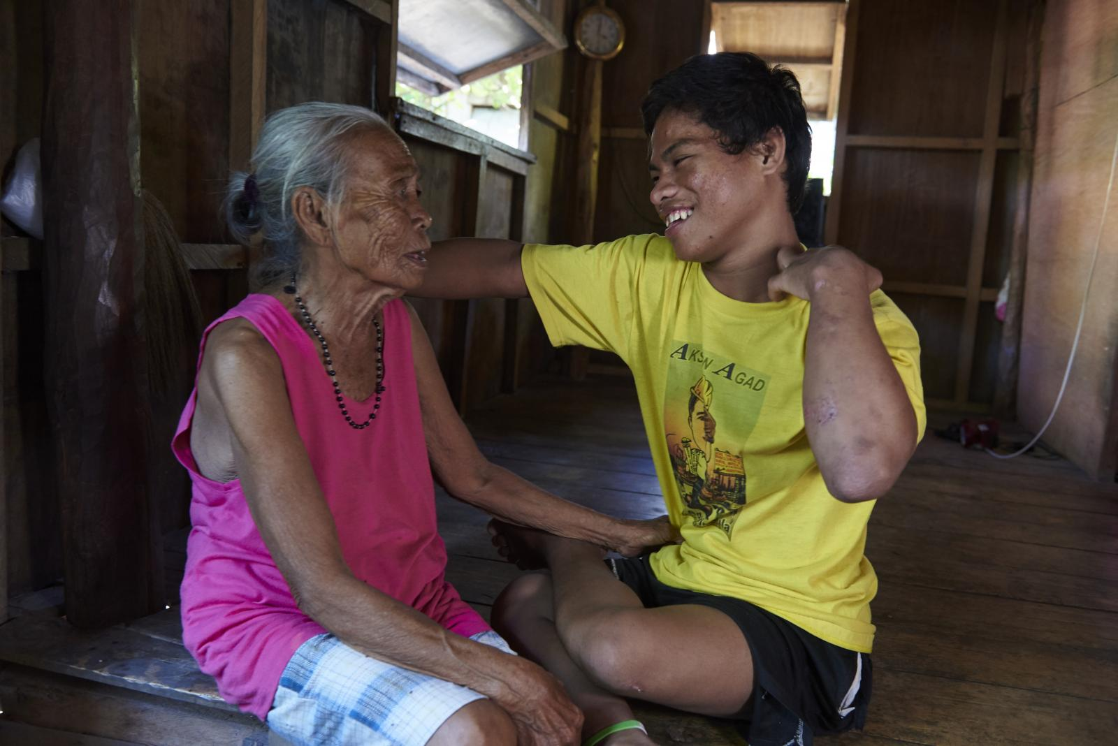 Ray, a person with disability, and his aunt