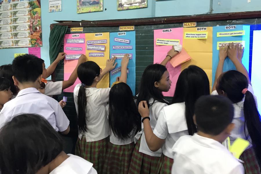 Students participating in Comprehensive Sexuality Education