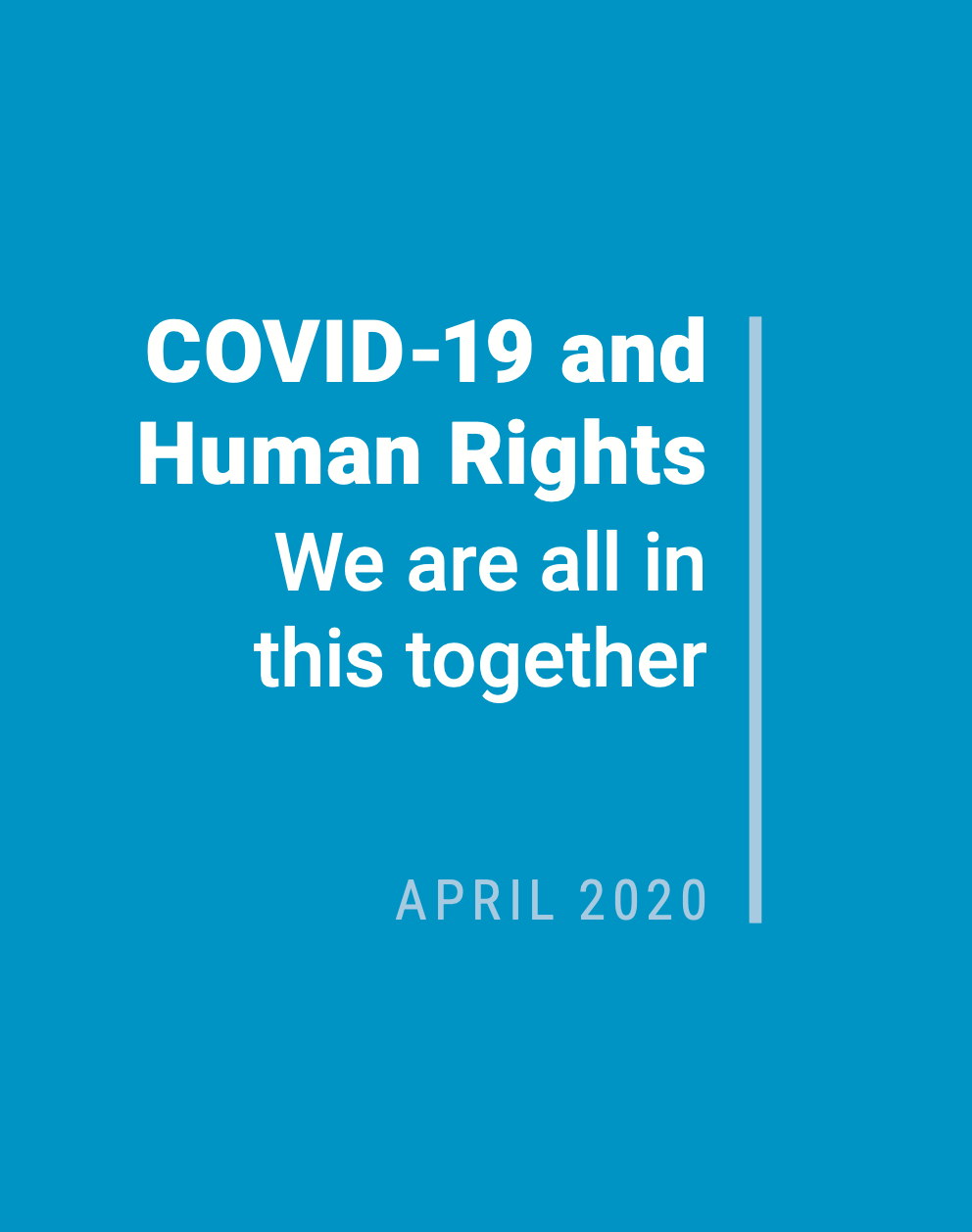 """Cover of """"COVID-19 and human rights"""""""