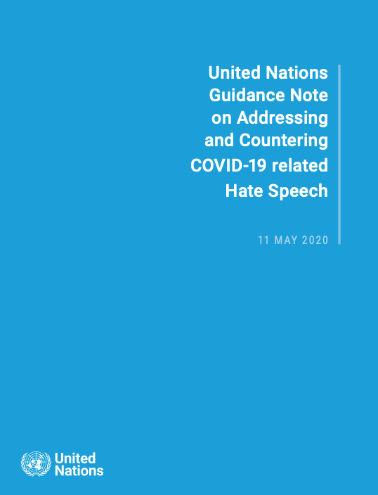 UN guidance note on addressing and countering COVID-19 related hate speech