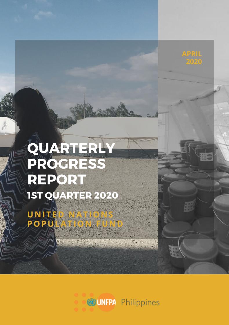 UNFPA Philippines Quarterly Progress Report - 2020/Q1