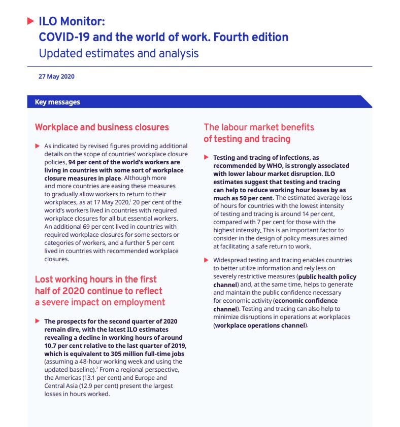 ILO Monitor 4th edition