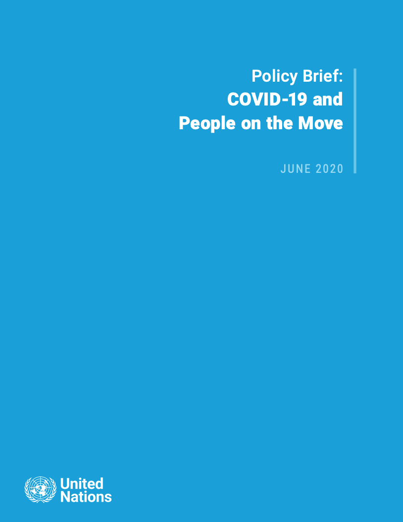 Secretary-General Policy Brief on COVID-19 and People on the Move
