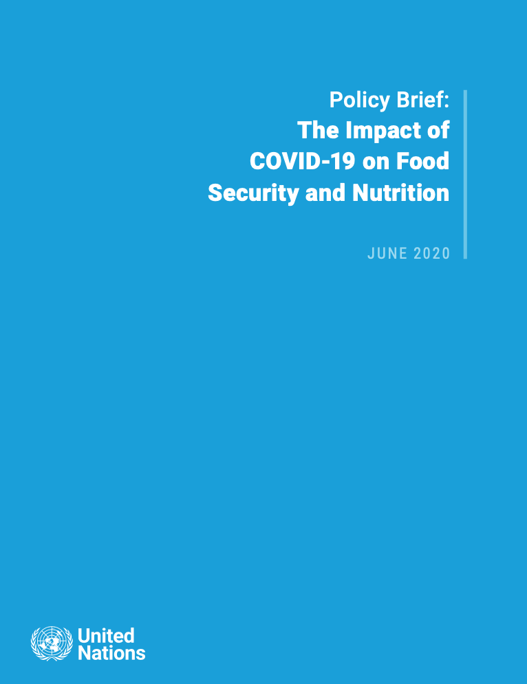 SG policy brief on the impact of COVID-19 on food security