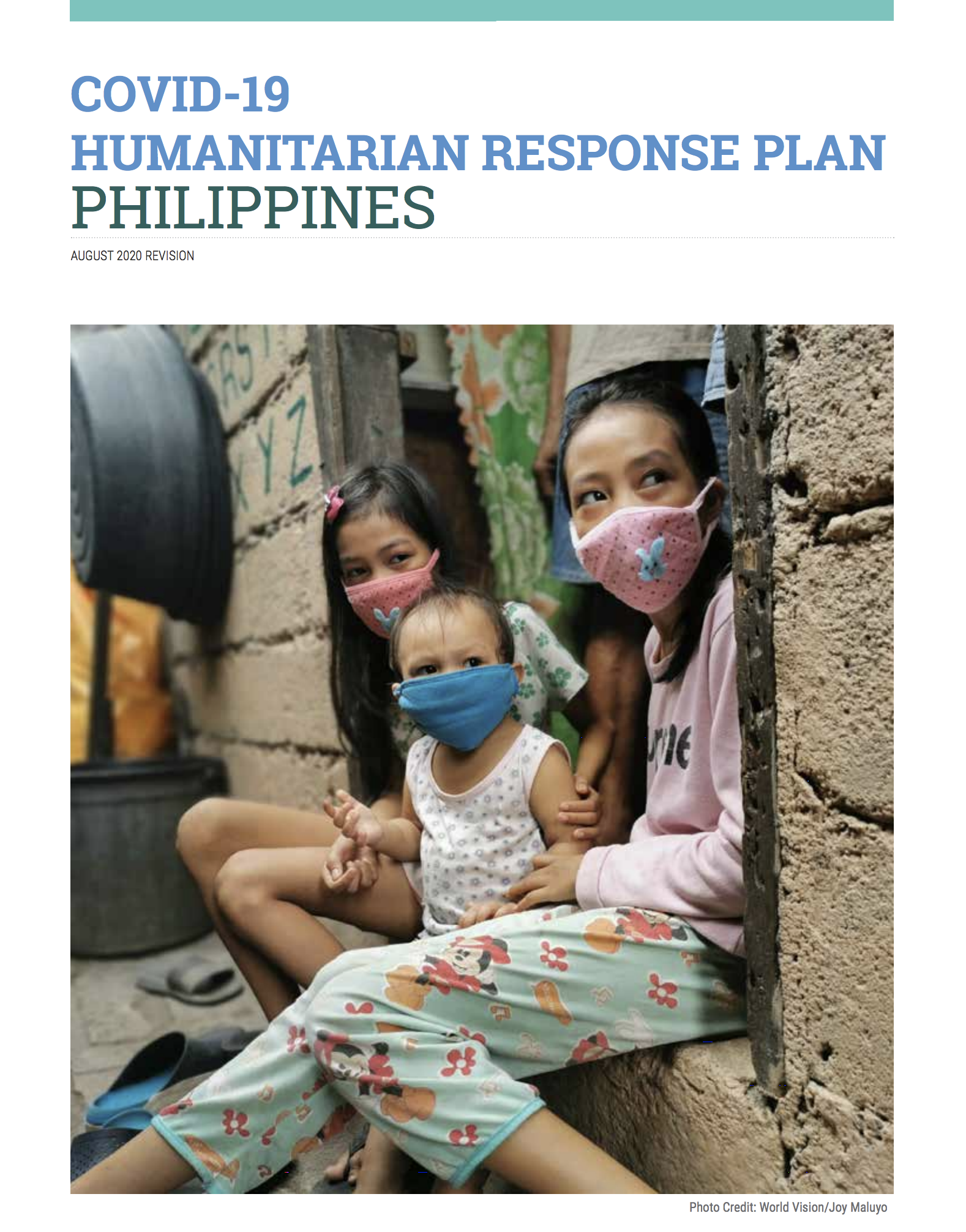COVID-19 Humanitarian Response Plan Philippines August 2020 Revision