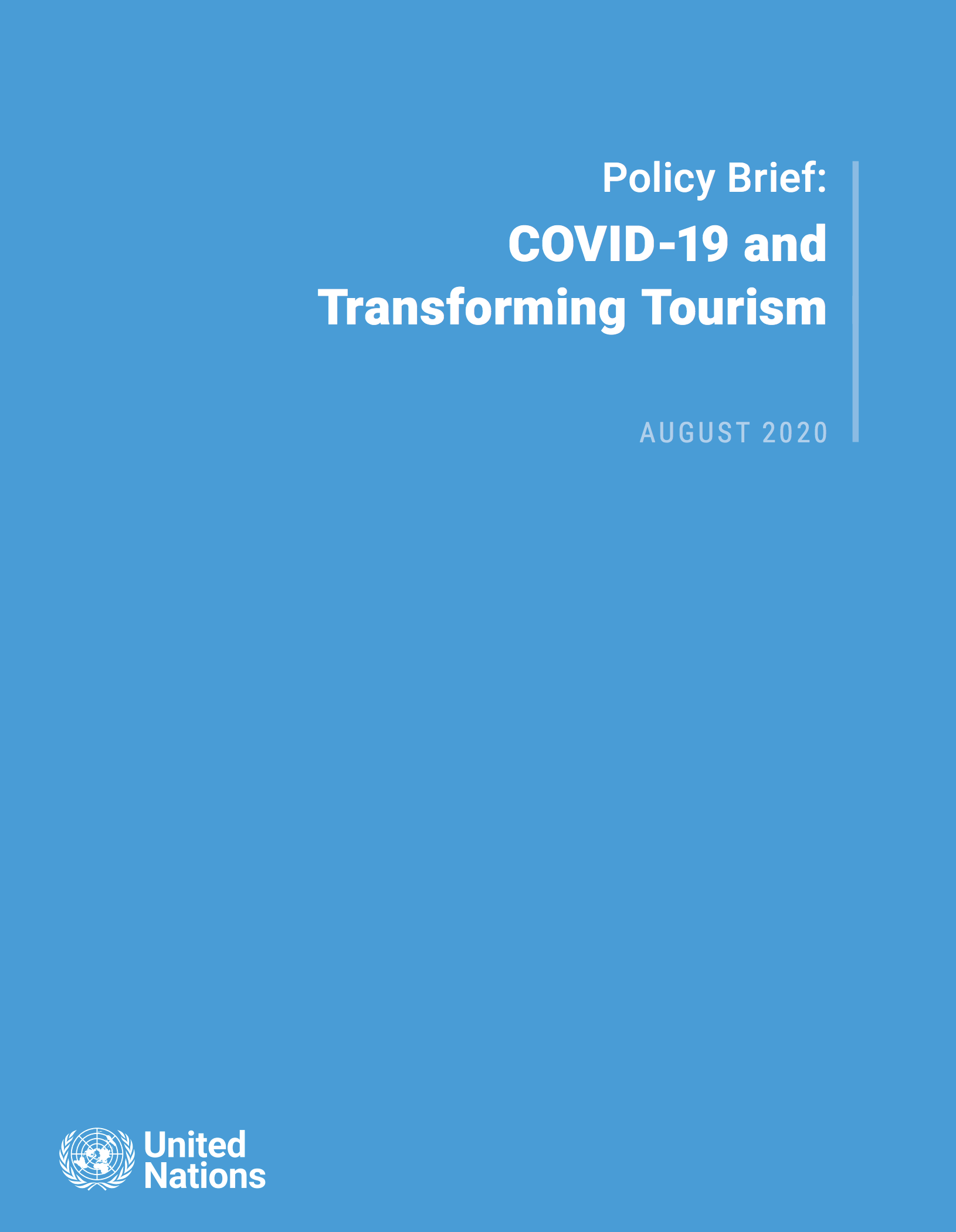 Policy Brief on Tourism and COVID-19