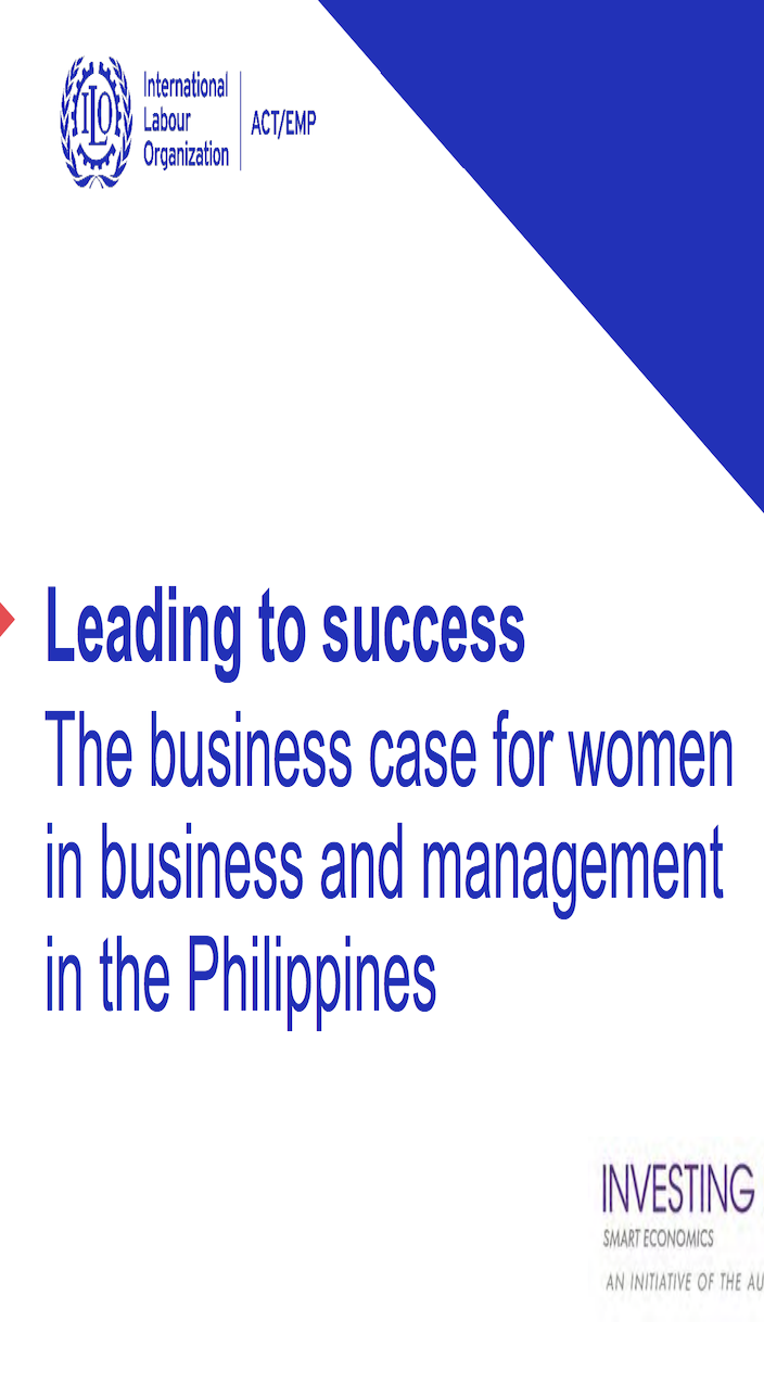 Leading to success: The business case for women in business and management in the Philippines