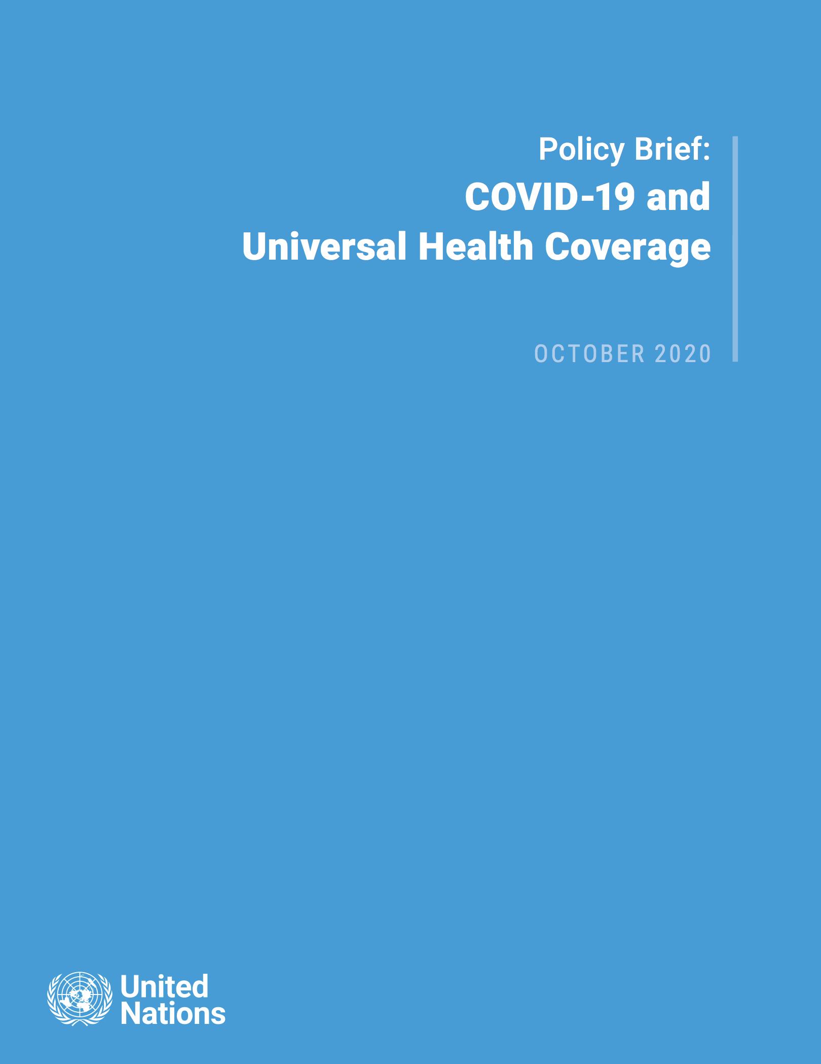 COVID-19 and Universal Health Coverage