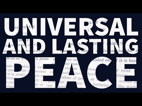 Universal and lasting peace: The ILO Centenary