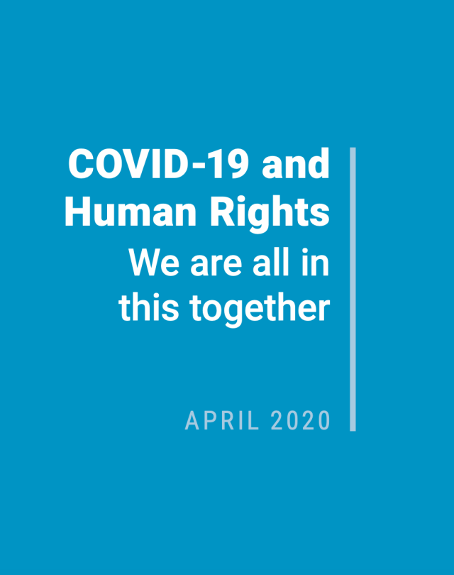 "Cover of ""COVID-19 and human rights"""
