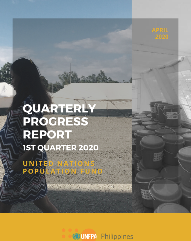 UNFPA Philippines Quarterly Progress Report - 2020/Q1